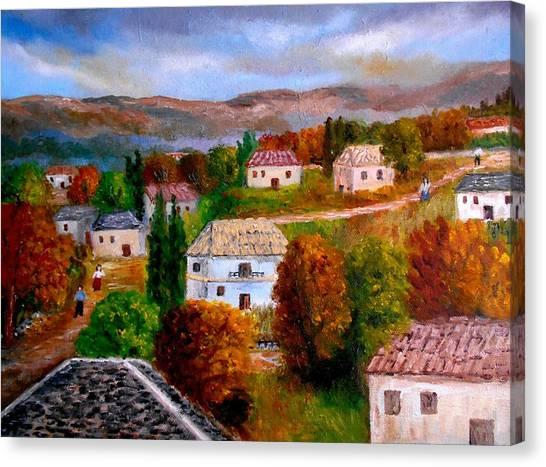 Autumn In Greece Canvas Print