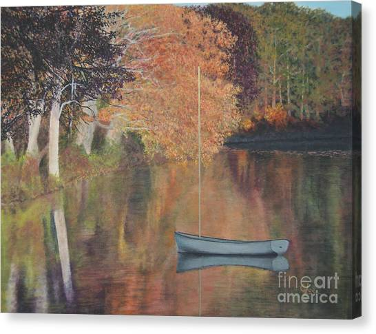 Autumn In Hamburg Cove Canvas Print