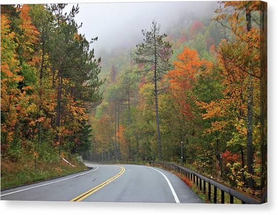 Autumn In Keene Valley Canvas Print