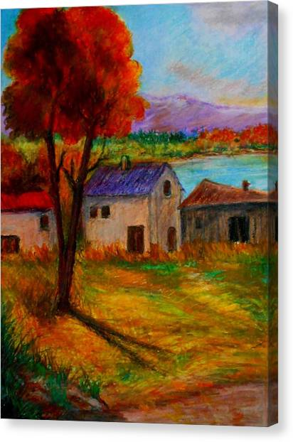 Autumn In Lake Prespa Canvas Print