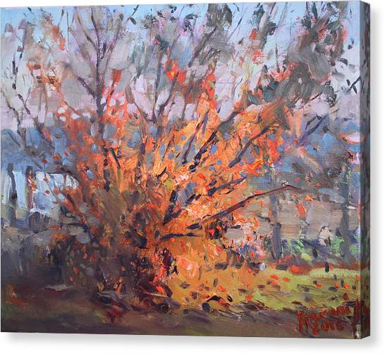 Laundry Canvas Print - Autumn In Late Evening by Ylli Haruni