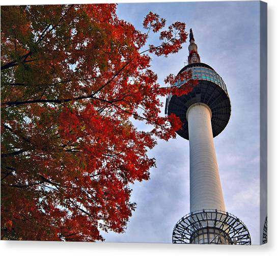 Autumn In Seoul Canvas Print