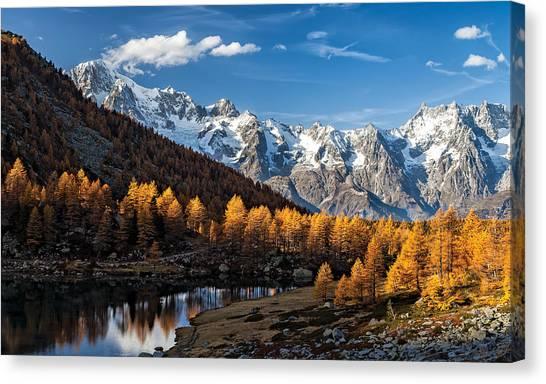 Alps Canvas Print - Autumn In The Alps by Alfredo Costanzo