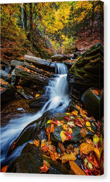Autumn In The Catskills Canvas Print