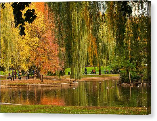 Autumn In The Garden Canvas Print