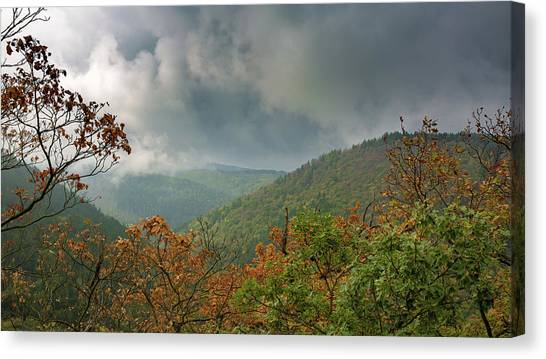 Autumn In The Ilsetal, Harz Canvas Print