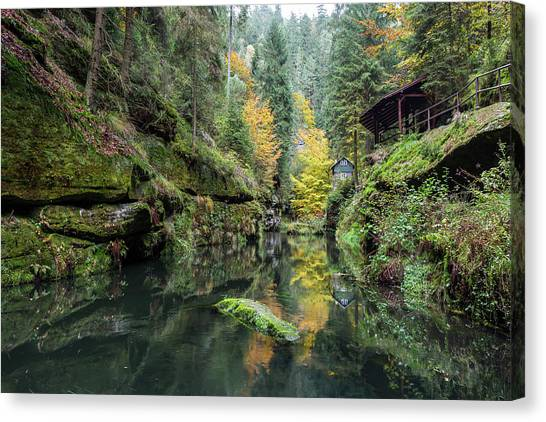 Autumn In The Kamnitz Gorge Canvas Print