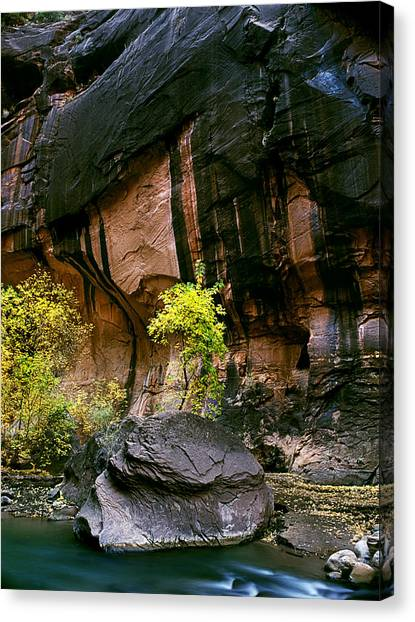 Autumn In The Narrows Canvas Print by Edward Mendes