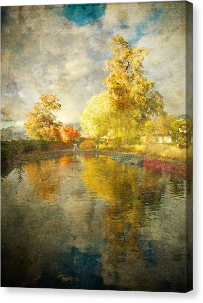 Penticton Canvas Print - Autumn In The Pond by Tara Turner
