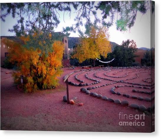 Autumn Labyrinth Canvas Print