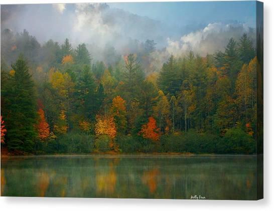 Autumn Lake Canvas Print by Molly Dean