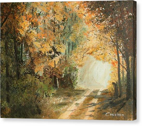 Autumn Lane Canvas Print