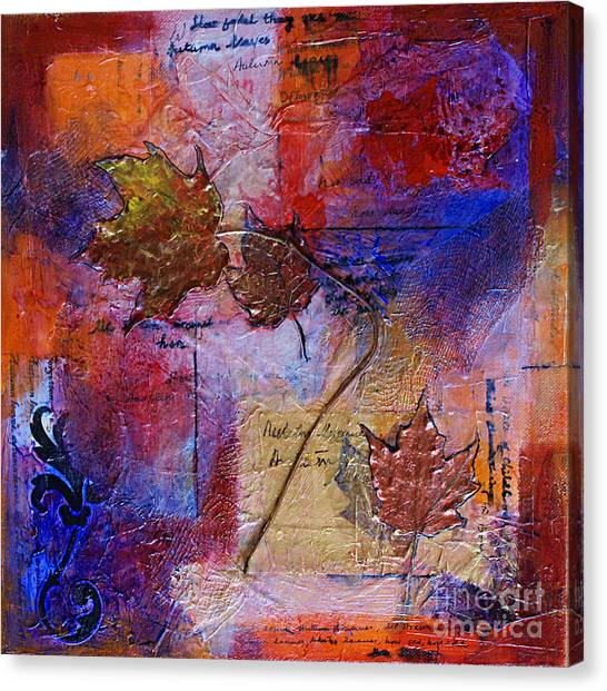 Autumn Leaves Canvas Print by Ishita Bandyo