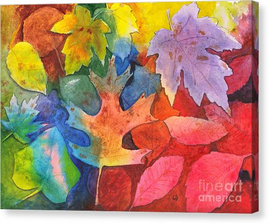 Autumn Leaves Recycled Canvas Print
