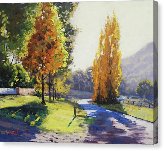 Amber Canvas Print - Autumn Light Tarana by Graham Gercken