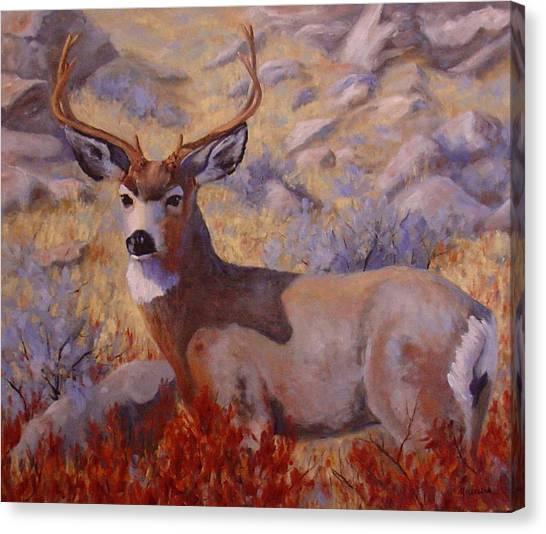Autumn Majesty Canvas Print by Debra Mickelson