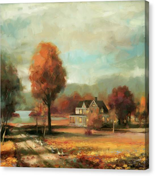 Geese Canvas Print - Autumn Memories by Steve Henderson