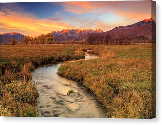 Autumn Morning In Heber Valley. Canvas Print