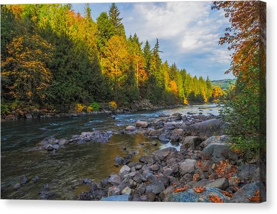 Autumn Morning Light On The Snoqualmie Canvas Print