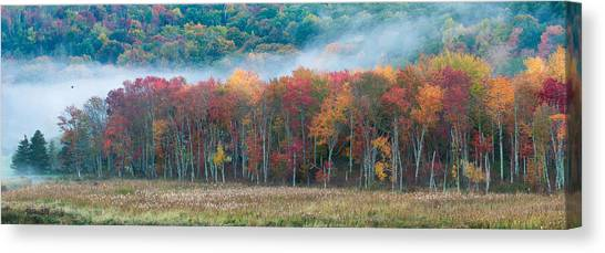 Autumn Morning Mist Canvas Print