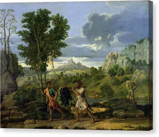 Vine Grapes Canvas Print - Autumn by Nicolas Poussin