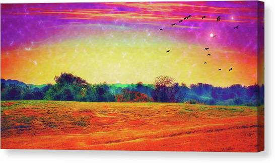 Autumn On Earth Two Canvas Print