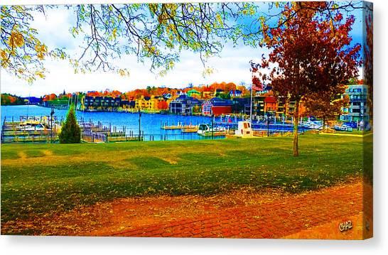 Autumn On Lake Charlevoix Canvas Print