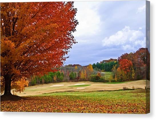 Autumn On The Golf Course Canvas Print