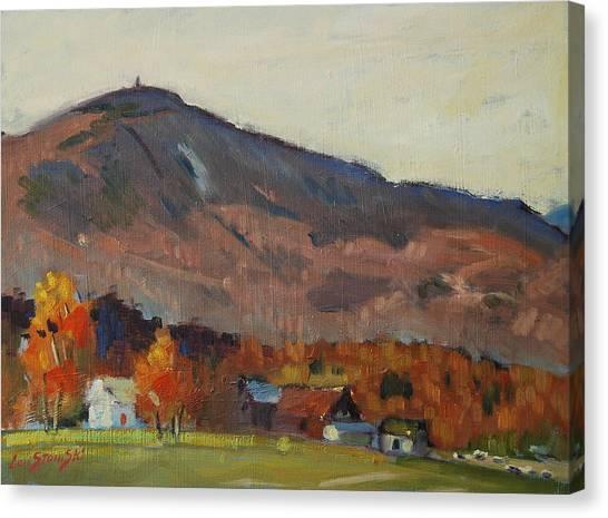 Autumn On The Mountain Canvas Print by Len Stomski