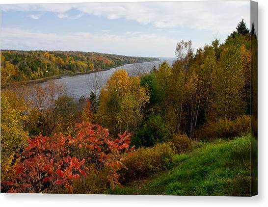 Autumn On The Penobscot Canvas Print