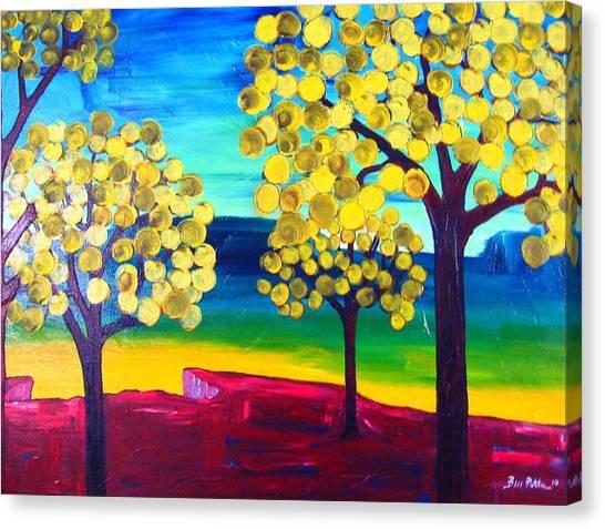 Autumn On The Ridge Canvas Print by Ben Potter