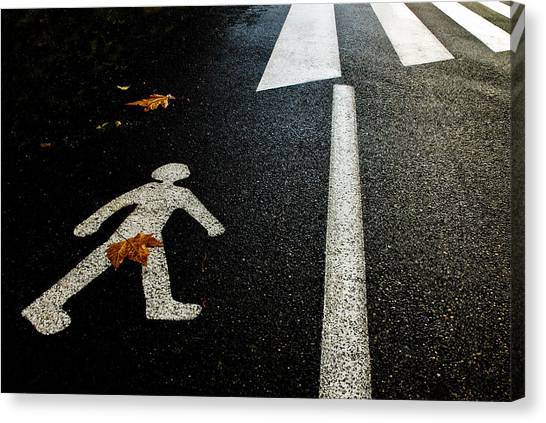 Humour Canvas Print - Autumn On The Road by Kikroune (christian R.)