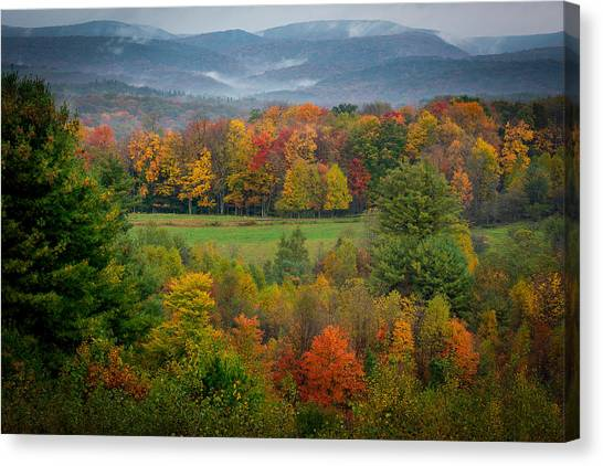 Autumn On Winslow Hill Canvas Print