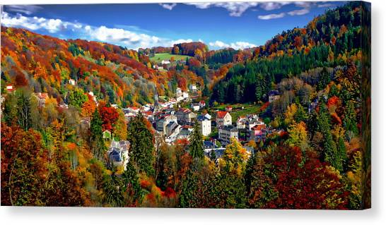 Autumn Panorama Canvas Print