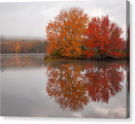 Autumn Pond Canvas Print