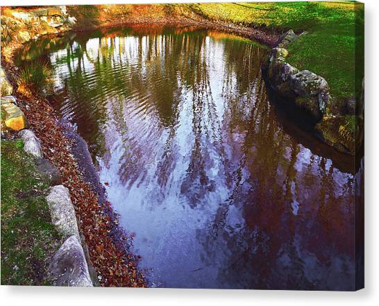 Autumn Reflection Pond Canvas Print