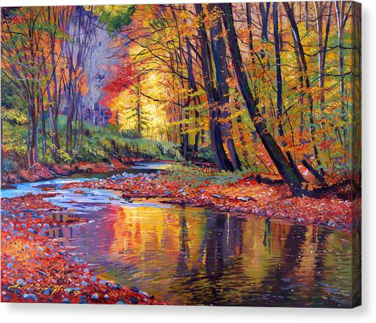Recommended Canvas Print - Autumn Prelude by David Lloyd Glover