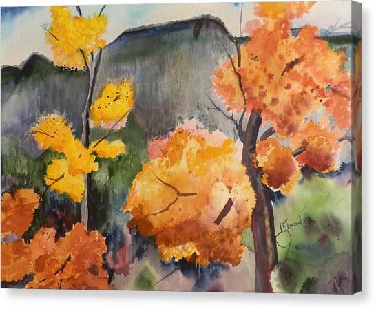 Autumn Rainy Day Canvas Print