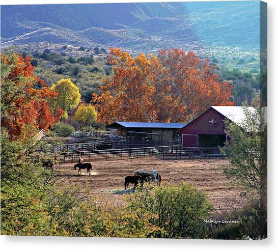 Autumn Ranch Canvas Print