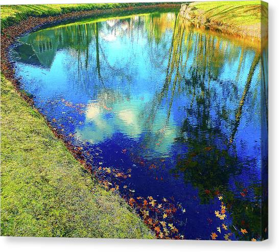 Autumn Reflection Pond Canvas Print