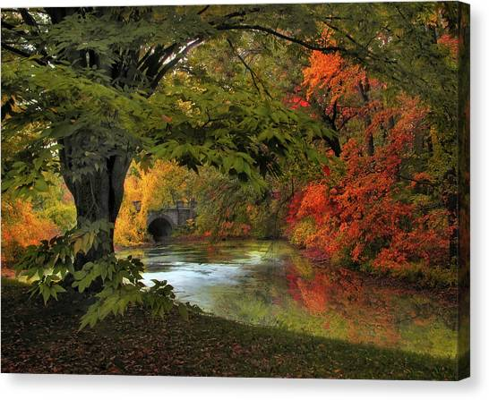 Canvas Print featuring the photograph Autumn Reverie by Jessica Jenney