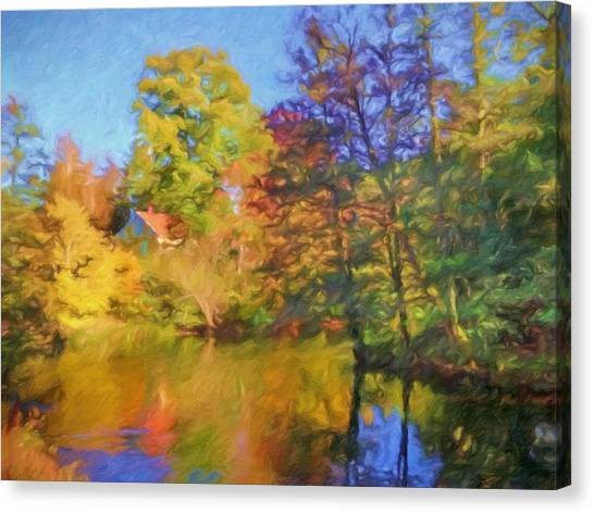 Canvas Print - Autumn River by Impressionist Art