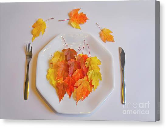 Salads Canvas Print - Autumn Salad by Veikko Suikkanen