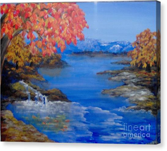 Canvas Print featuring the painting Autumn by Saundra Johnson