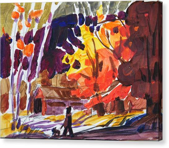 Autumn Sketch Canvas Print by Len Stomski