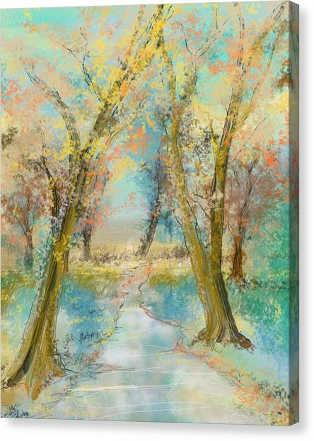 Autumn Sketch Canvas Print