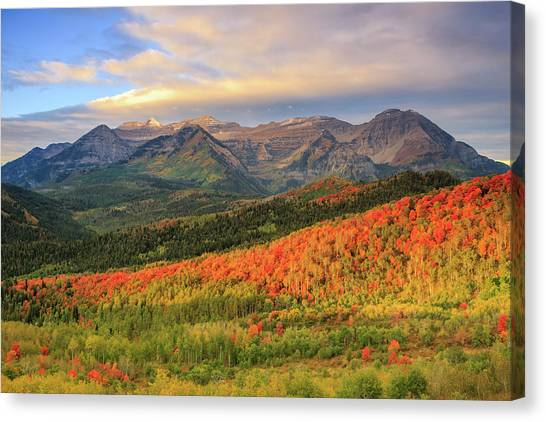 Autumn Splendor In The Wasatch Back. Canvas Print