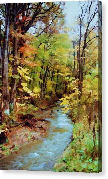 Autumn Stream Canvas Print