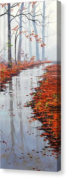 Maple Canvas Print - Autumn Stream by Graham Gercken
