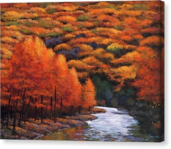 Big Sky Canvas Print - Autumn Stream by Johnathan Harris